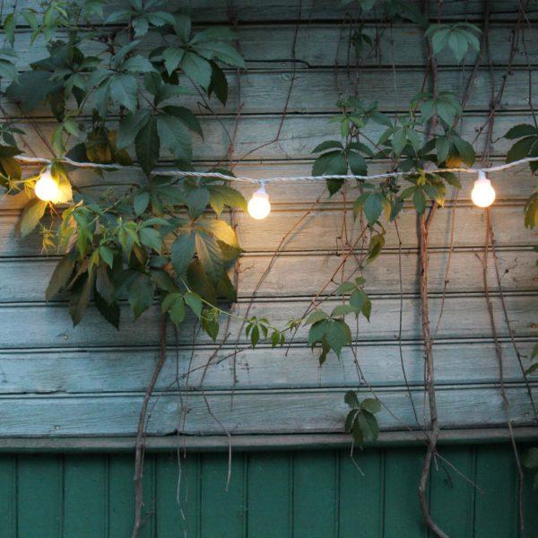 Sujungiama lempučių girlianda LIGHT BALL WHITE