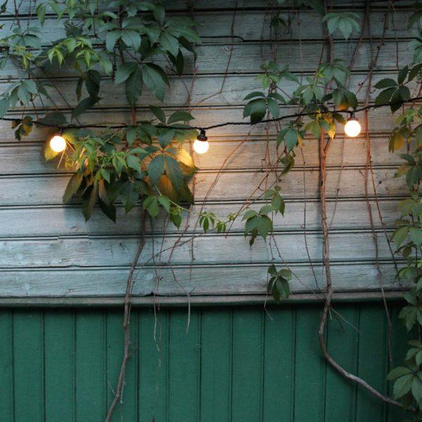 Sujungiama lempučių girlianda LIGHT BALL BLACK IP67