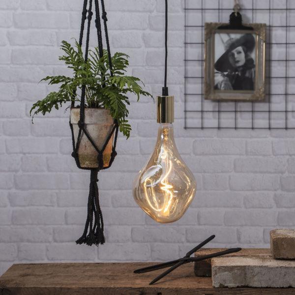 LED lemputė INDUSTRIAL VINTAGE AMBER A165, 3.8W / 2000K / E27