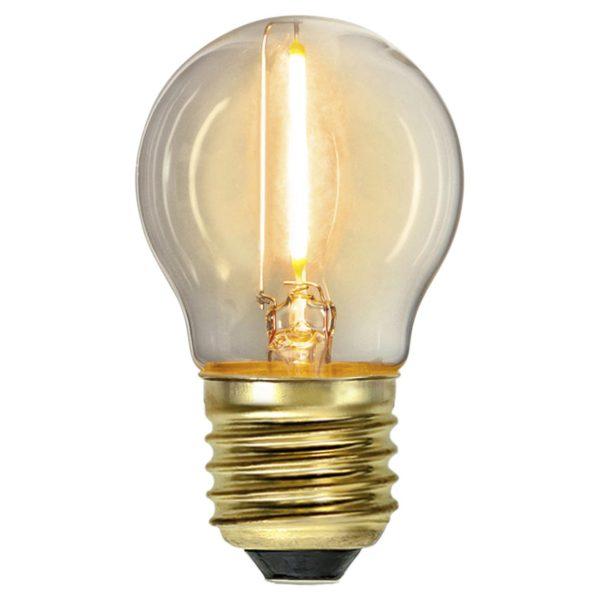 LED lemputė girliandai G45 SOFT GLOW, 0.8W / 2100K / E27