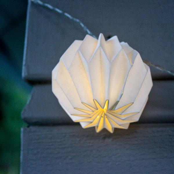 Lempučių girlianda ORIGAMI