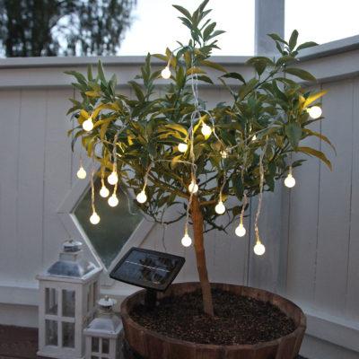 Lempučių girlianda su saulės baterija GLOBINI SOLAR