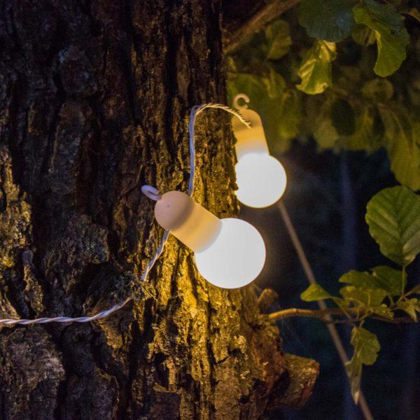 5m lempučių girlianda HOOKY WHITE