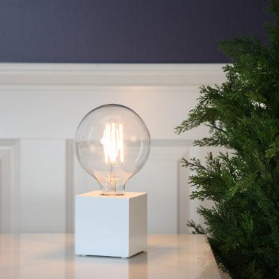 Lemputės stovas KUB WHITE