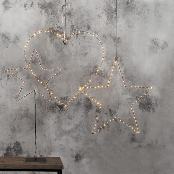 Šviečianti dekoracija LOVE
