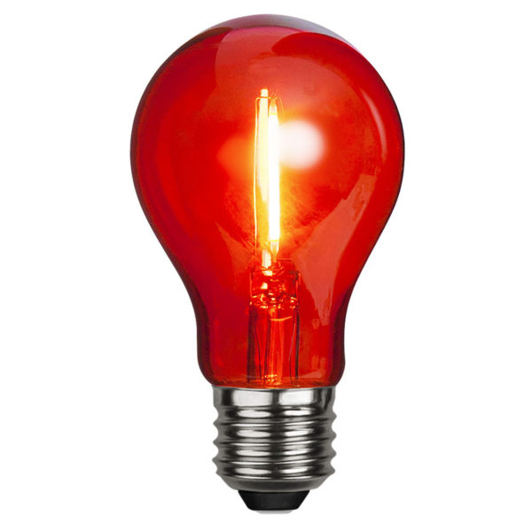 LED lemputė DECORATION PARTY RED, 1W / E27