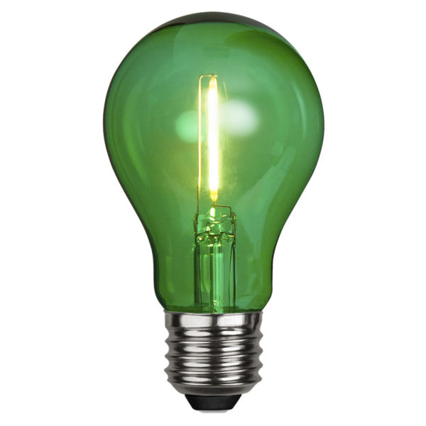 LED lemputė DECORATION PARTY GREEN, 1W / E27