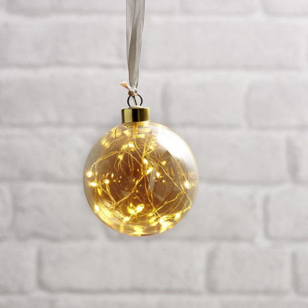 Kalėdinė dekoracija AMBER BUBBLE 10