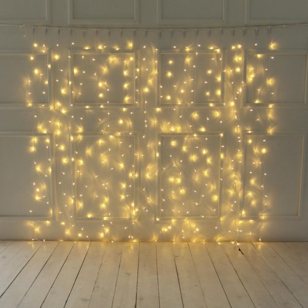 2m LED užuolaida WARM&WHITE