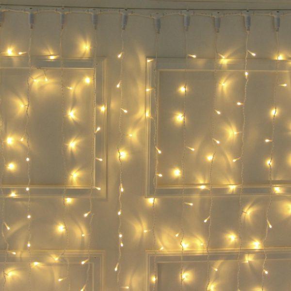 2m LED užuolaida WARM&WHITE IP44
