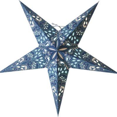 Popierinė žvaigždė BLUE BLAZE  60CM