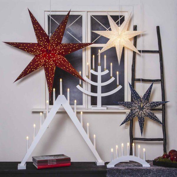 Popierinė žvaigždė WHITE STAR 60CM