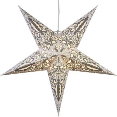 Popierinė žvaigždė WHITE BLAZE 60CM