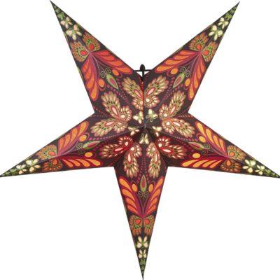 Popierinė žvaigždė RED BLAZE  60CM