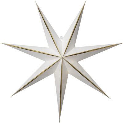 Popierinė žvaigždė WHITE GLOW 60CM