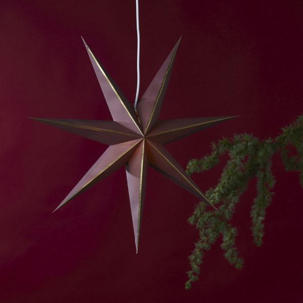 Popierinė žvaigždė RED GLOW 60CM