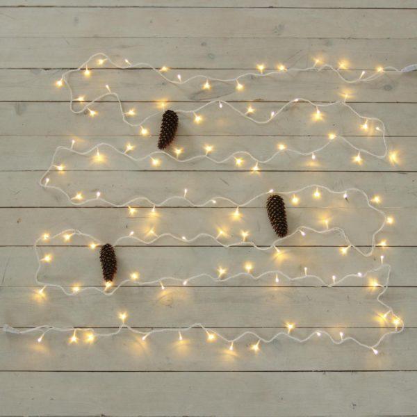 10m smulkių lempučių girlianda WARM&WHITE IP44