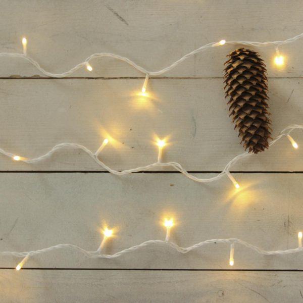 10m smulkių lempučių girlianda WARM&WHITE