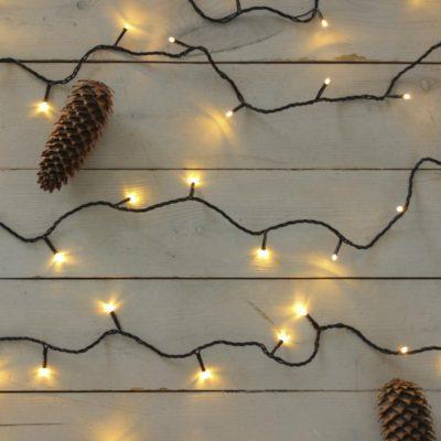 10m smulkių lempučių girlianda WARM&BLACK