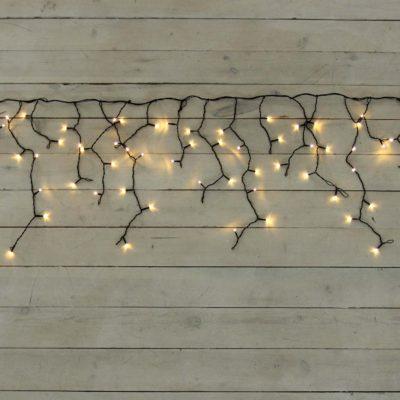 LED varveklių girlianda WARM&BLACK