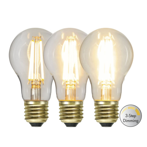 LED lemputė A60 3-STEP CLICK, 6.5 W / 2100K / E27