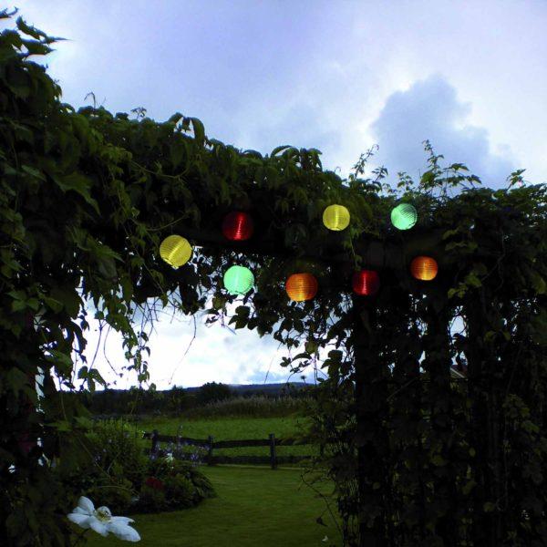 Lempučių girlianda su saulės baterija FESTIVAL SOLAR