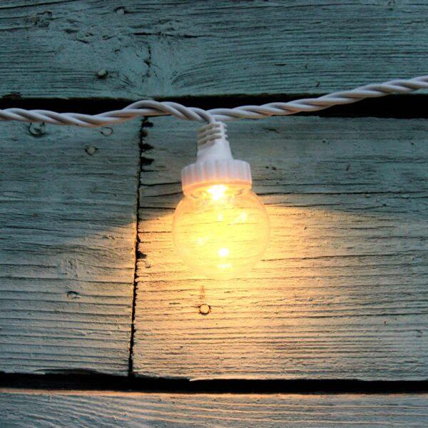 Sujungiama lempučių girlianda LIGHT BALL WHITE&CLEAR