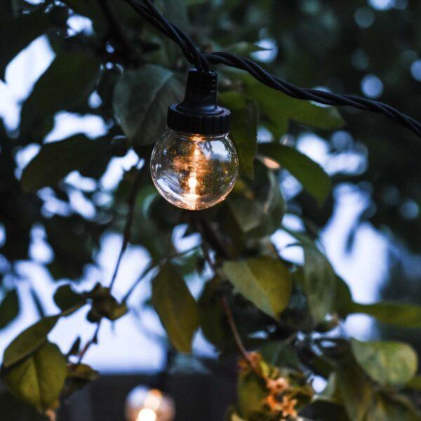 Sujungiama lempučių girlianda LIGHT BALL BLACK&CLEAR
