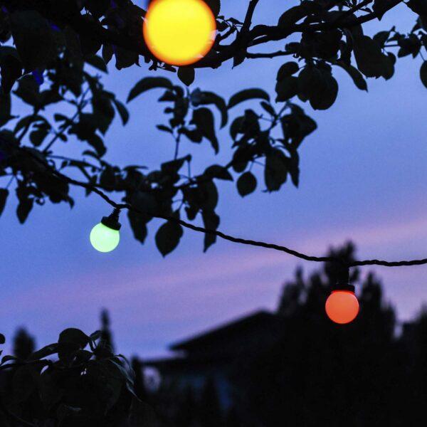 Sujungiama lempučių girlianda LIGHT BALL COLOR