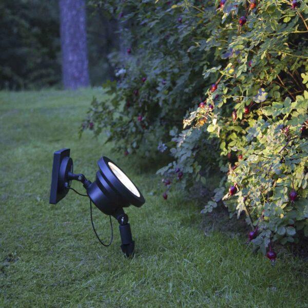 Sodo žibintas su saulės baterija POWER SPOTLIGHT SOLAR Saulės baterijos
