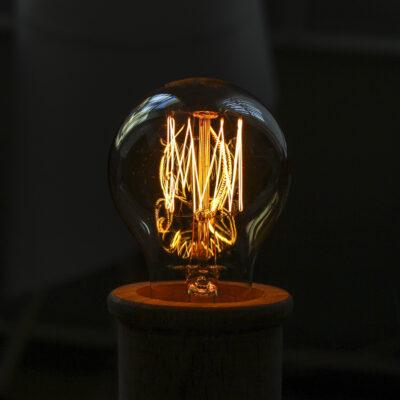 Kaitrinė lemputė VINTAGE A60-KL, 60W / 2200K / E27