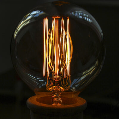 Kaitrinė lemputė VINTAGE G95-KL, 60W / 2200K / E27