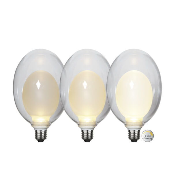 LED lemputė ELIPSE BIG 3-STEP, 3.5W / 2700K / E27
