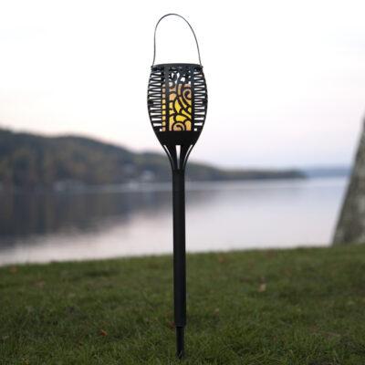 Sodo žibintas su saulės baterija FLAME SOLAR Saulės baterijos