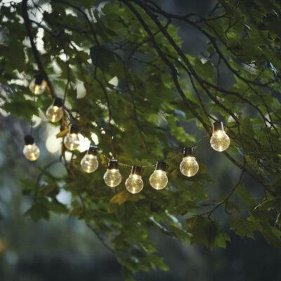 Lempučių girlianda su saulės baterija PARTY SOLAR