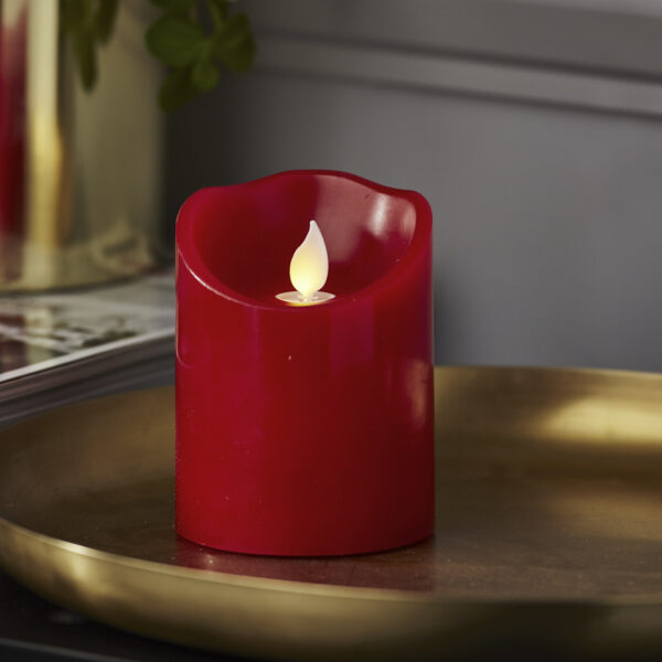 LED žvakė TWINKLE-RED (10 cm)