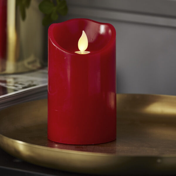 LED žvakė TWINKLE-RED (12,5 cm)