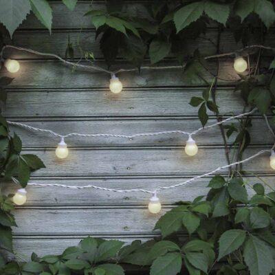 5m sujungiama lempučių girlianda LIGHT BALL WHITE IP67