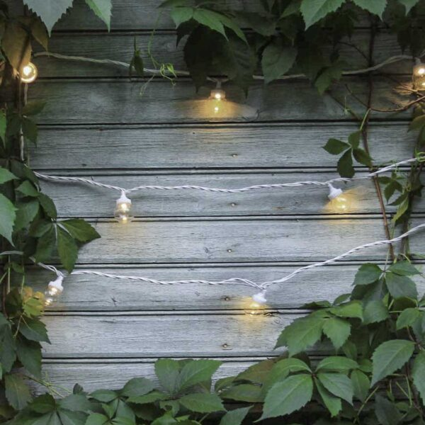 5m sujungiama lempučių girlianda LIGHT BALL WHITE&CLEAR IP67