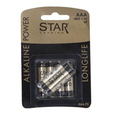 Baterijos STAR TRADING, AAA/LR03, 6vnt