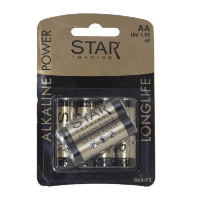 Baterijos STAR TRADING, AA/LR6, 6vnt
