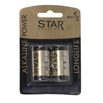 Baterijos STAR TRADING, C/LR14, 2vnt