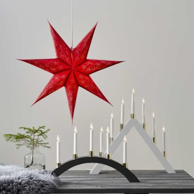 Popierinė žvaigždė DECORUS RED 63CM