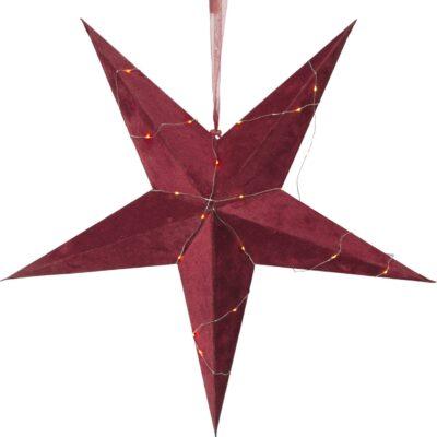 Aksominė žvaigždė VELVET RED 60CM