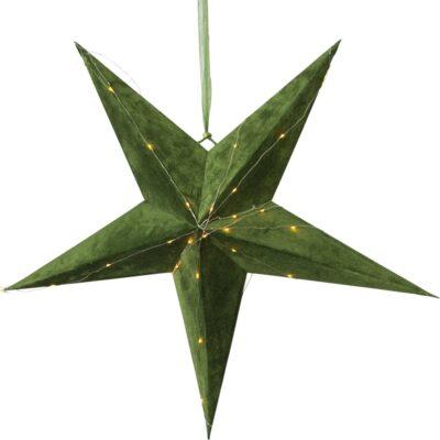 Aksominė žvaigždė VELVET GREEN 60CM