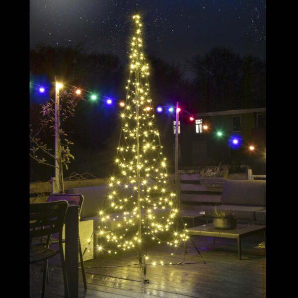 3m pastatoma mirksinčių lempučių eglutė FAIRYBELL 320LED TWINKLE