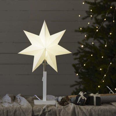 Pastatoma žvaigždė WHITE KARO 52CM