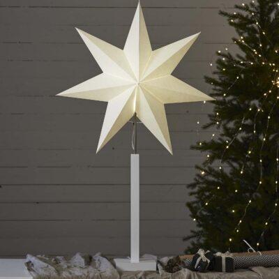 Pastatoma žvaigždė WHITE KARO 100CM