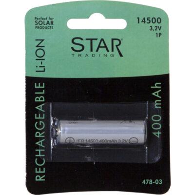 Pakraunama baterija AA, 14500 3,2V 400MAH LI-ION