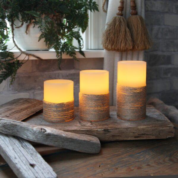 LED žvakė ROPE (12,5 cm)